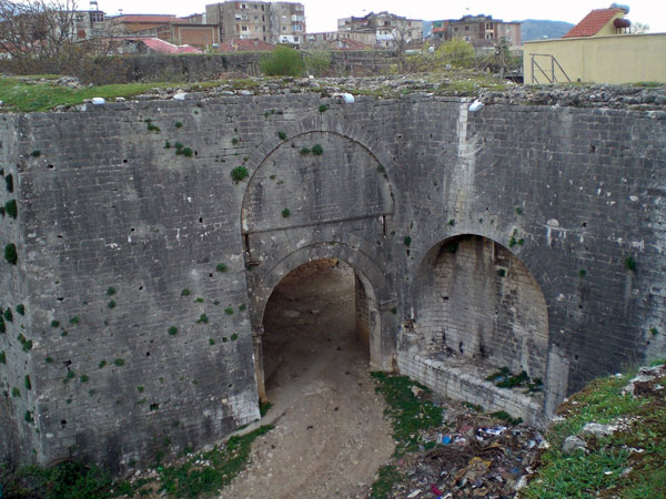Entrance to the Ali Pasha's fortress of Tepelena (Photo: Robert Elsie, March 2008)