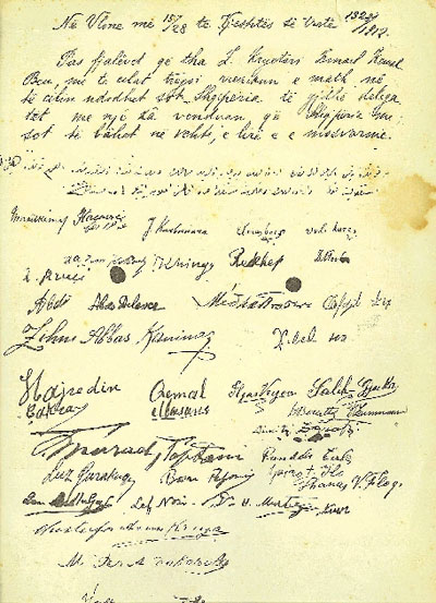 Albanian Declaration of Independence